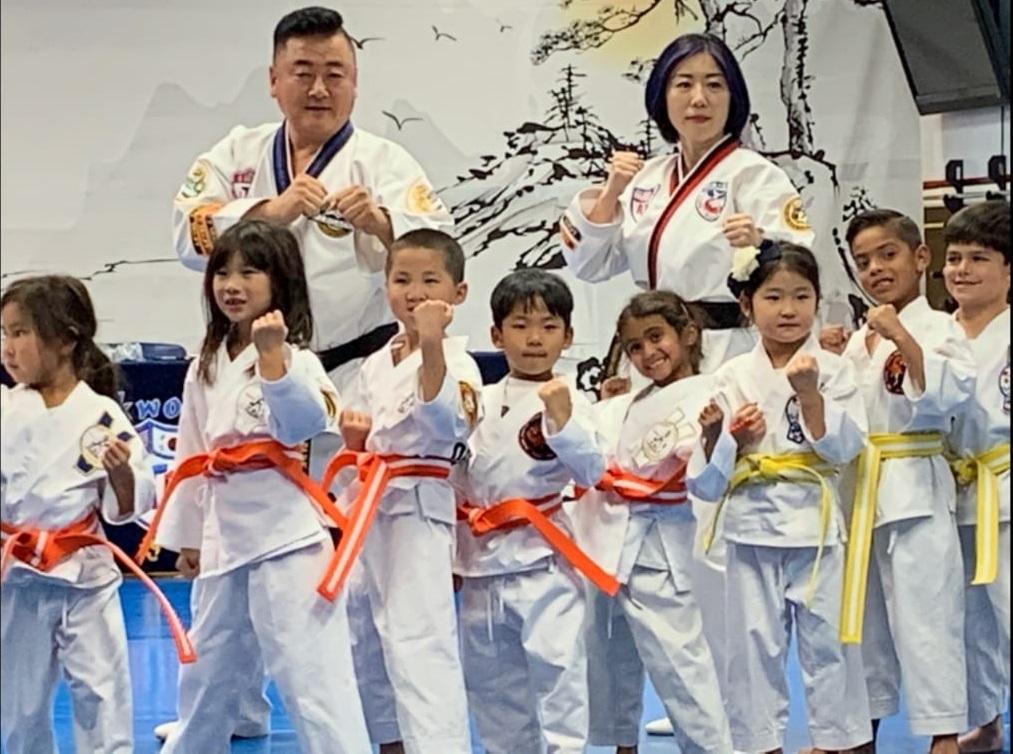 taekwondo for kids in orange