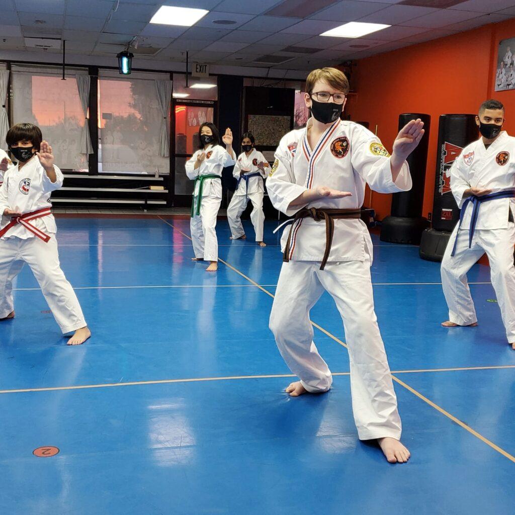 martial art in orange